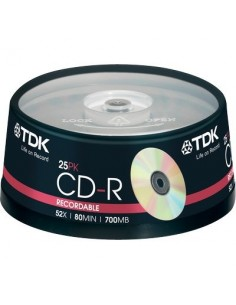 CD TDK - Spindle - CD-R - 52x - t18767 (conf.25)