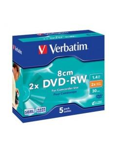 DVD Verbatim - DVD-RW - 1,4 Gb - 2x - Mini DVD 8 cm - Jewel case - 43514