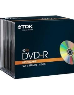DVD TDK - Slim case - DVD-R - 16X - t19420 (conf.10)