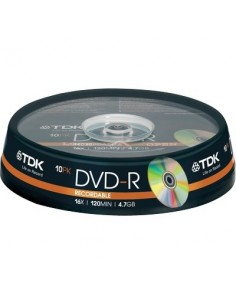 DVD TDK - Spindle - DVD-R - 16X - t19415 (conf.10)