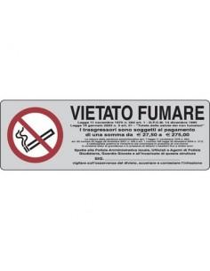 Cartelli segnaletici adesivi Pubblicentro - vietato fumare con legge - 15900020ADB0150X0050