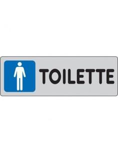 Cartelli segnaletici adesivi Pubblicentro - toilette uomini - 15909670ADB0150X0050