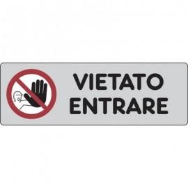 Cartelli segnaletici adesivi Pubblicentro - vietato entrare - 15907500ADB0150X0050
