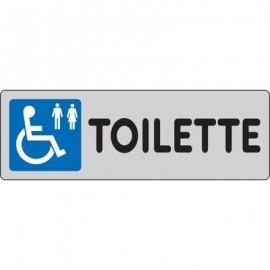 Cartelli segnaletici adesivi Pubblicentro - toilette disabili - 15909690ADB0150X0050