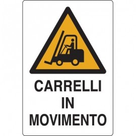 Cartelli segnaletici avvertimento - alluminio - 50x35 cm - carrelli in movimento - W0146000ALB0500X0350