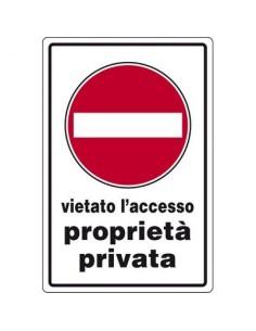 Cartelli segnaletici in alluminio Pubblicentro - proprietà privata- 05401430ALB0300X0200