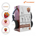 Techmade Cuffia Con Microfono Con Skin Roma Cambiabile As Roma
