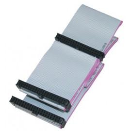 Cavo Dati 40 Poli Per Hard Disk E Cd Rom Bus Ide 3 Connettori Cm. 50 (Ak5430)
