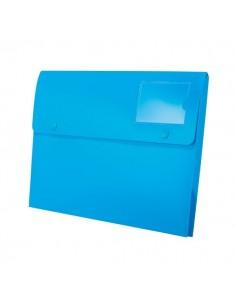 Buste a soffietto con bottone Joy Rexel - A4+ - blu - 2104216 (conf.5)