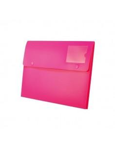 Buste a soffietto con bottone Joy Rexel - A4+ - fucsia - 2104219 (conf.5)