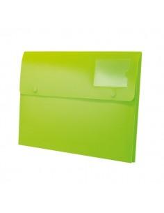 Buste a soffietto con bottone Joy Rexel - A4+ - verde lime - 2104217 (conf.5)