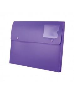 Buste a soffietto con bottone Joy Rexel - A4+ - viola - 2104218 (conf.5)