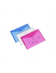 Busta con bottone Ice Rexel - con portabiglietto visita - A3 - trasp. - 2101669 (conf.5)