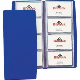 Portabiglietti da visita in PVC Favorit - 4 tasche 80 scomparti - 11x25,5 cm blu - 100460540