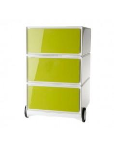 Cassettiere EasyOffice a 3 cassetti Paperflow - verde - K310608
