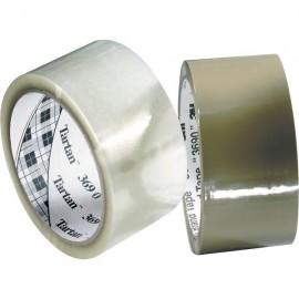 Nastro adesivo Tartan 369 Hot Melt 3M - 50 mm x 66 m - trasparente - 87625