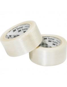Nastro adesivo rinforzato Tartan™ 8930 Filament Scotch - 50 mm x 50 m - trasparente - 28107