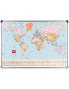 Cartina magnetica Nobo - politica - Planisfero - 87x124 cm - 32830722
