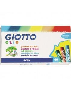 Pastelli Ad Olio Giotto - 12 Pastelli - Assortito - 293000 (Conf.12)