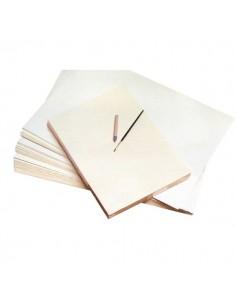 Cartoncino bianco didattico CWR - Fogli - Bianco - superficie liscia - 35x50 cm -06291 (conf.10)