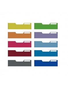 Frontali per Cassettiere Modulo A4 Exacompta - 10 colori assortiti - 8,2 cm - 337999D (conf.10)