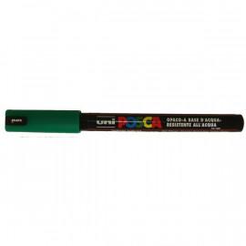 Marcatore Uni Posca a tempera Uni-Ball - verde - tonda - 0,7 mm - M PC1MR V