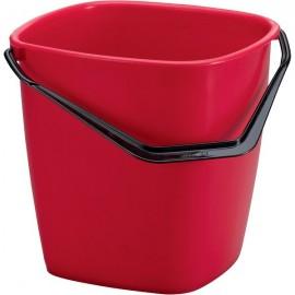 Secchi Durable - Quadrato - 25x25x24,5 cm - 9,5 l - rosso - 1809413080