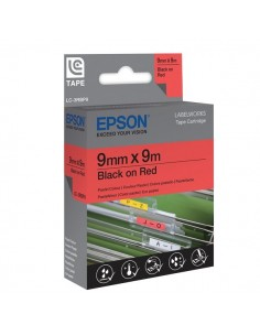 Nastro per etichettatrice LC Epson - 12 mm x 9 m - rosso/bianco - C53S625406