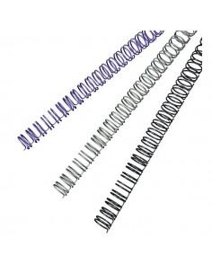 Dorsi metallici a 34 anelli GBC - 11 mm - 100 fogli - argento - RG810797 (conf.100)