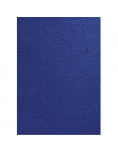 Copertine in cartoncino per rilegatura GBC -A4 -goffrato similpelle - blu navy - CE040025 (conf.100)