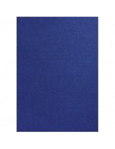 Copertine in cartoncino per rilegatura GBC -A4- goffrato similpelle -blu royal- CE040029 (conf.100)