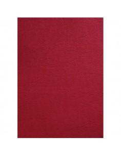 Copertine in cartoncino per rilegatura GBC -A4-goffrato similpelle -rosso scuro- CE040030 (conf.100)