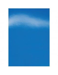 Copertine in cartoncino per rilegatura GBC - A4 - cartoncino lucido - blu - CE020020 (conf.100)