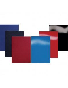 Copertine in cartoncino per rilegatura GBC - A4 - cartoncino telato - blu - CE050029 (conf.100)
