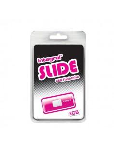 Chiavette USB Integral Slide - 8 GB - USB 2.0 flash drive - rosa - INFD8GBSLDPK