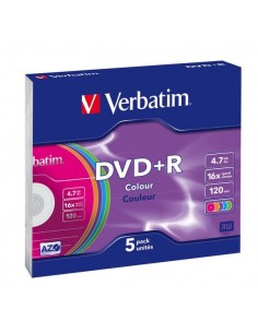 DVD Verbatim - DVD+R - 4.7 Gb - 16x - Slim case - 43556 (conf.5)