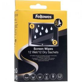 Set di Fazzoletti per pulizia schermo Fellowes - 9970214 (conf100)