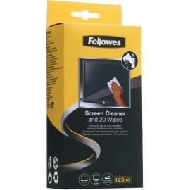 Soluzione detergente 125ml e salviette per schermo 20 pz. Fellowes - 99701
