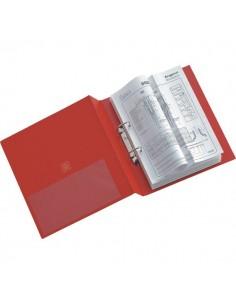 Raccoglitori Stelvio a 2 anelli Sei Rota - Anelli R Ø 25 mm - 22x30 cm - rosso - 35254212
