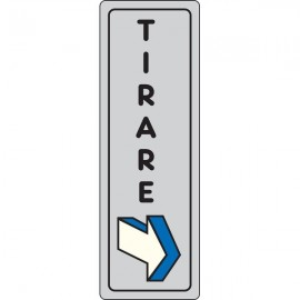Cartelli segnaletici adesivi Pubblicentro - tirare (verticale) - 15910010ADB0150x0050