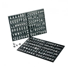 Set caratteri per pannelli a lettere mobili Nobo - 1901937 (conf.250)