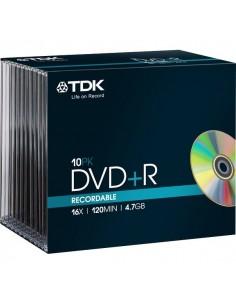 DVD TDK - Slim case - DVD+R - 16x - t19447 (conf.10)