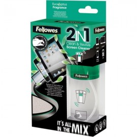 Detergente schermo 2 IN 1 Clean & Revive da 125 ml con panno Fellowes - 125 mml - 9922501