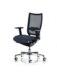 Sedia semidirezionale ergonomica CONCEPT UNISIT - pelle - NERO - COT/PN