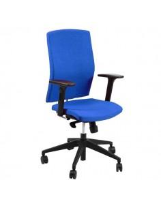 Sedia semidirezionale ergonomica EUROPA UNISIT - similpelle - cromato - NERO - EUP/KN