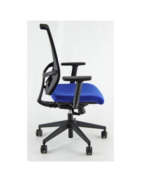 Sedia semidirezionale ergonomica GALATEA UNISIT - pelle - cromato - GRIGIO - GTJB/PT