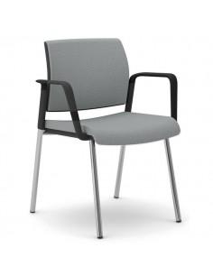 Sedia interlocutore ergonomica KIND UNISIT - similpelle - GRIGIO - KI4GTBB/KG
