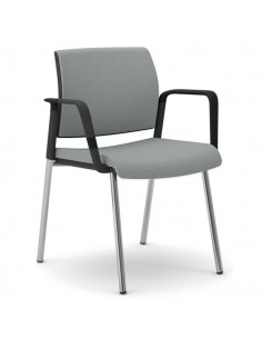 Sedia interlocutore ergonomica KIND UNISIT - similpelle - NERO - KI4GTBB/KN