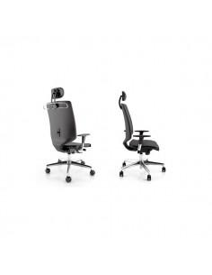 Sedia semidirezionale ergonomica NEWAIR UNISIT - pelle - GRIGIO - NWNP/IR