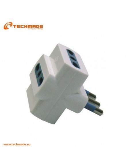 Techmade Adattatore Spina 16A 3 Prese 16 A